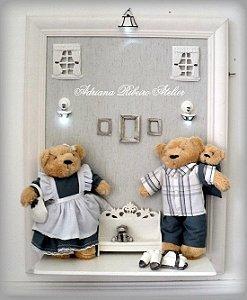 Quadro Urso Família