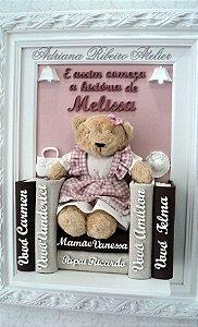 Porta Maternidade Ursinha com Livros