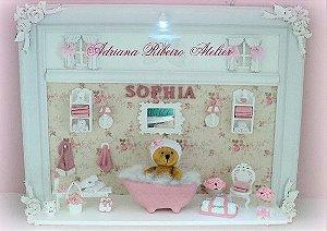 Porta Maternidade Ursinha na Banheira