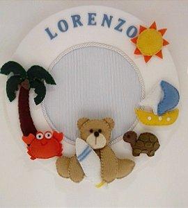 Porta Maternidade Ursinho Praia