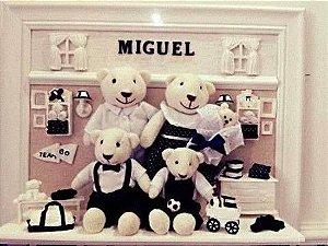Porta Maternidade Urso Família