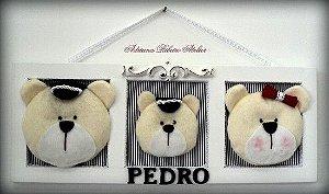 Porta Maternidade Pedro Ursinho Família