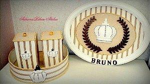 Porta Maternidade Bruno Coroa e Brasão