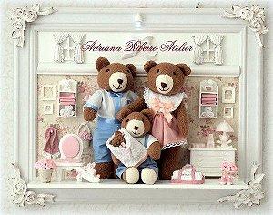 Quadro Urso Família Legal