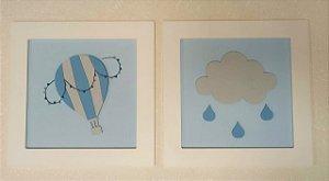 Quadro Balão e Nuvem