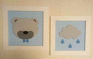 Quadros Urso e Nuvem