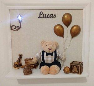 Porta Maternidade Lucas Ursinho Balão