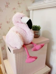 Ursinho Pelúcia Flamingo