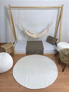 Tapete Infantil Crochê Branco Fosco