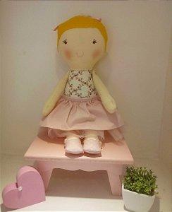 Boneca de Pano Menina Feliz