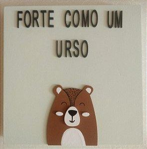 Quadro Forte Como Um Urso
