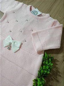 Saída Maternidade Vestido e Babados Rosa