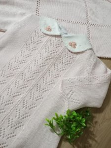 Saída Maternidade Vestido Leque Rosa