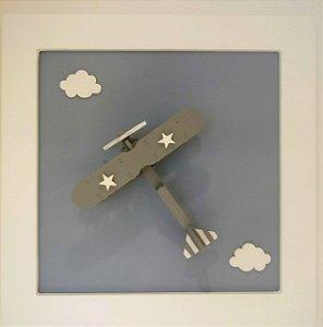 Quadro Aviãozinho com Nuvem