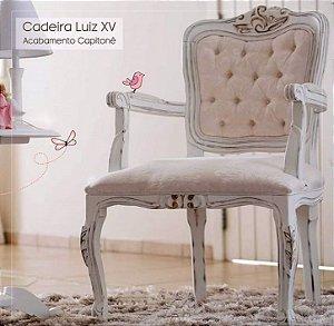 Cadeira Luiz XV Madeira Maciça