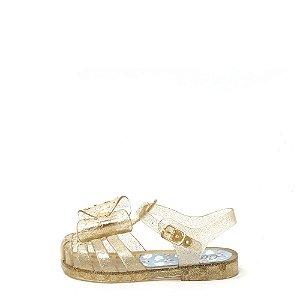 Sandalia Infatil Glitter Laço Dourado INF022