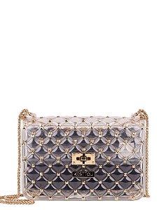 Bolsa Tiracolo Kesttou BK017 Cristal