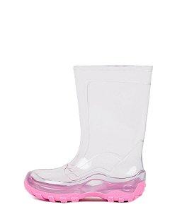 Galocha Infantil Nieve INF011 Cristal/Rosa