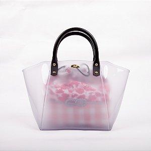 Bolsa Satchel Gasf com sacola floral Rosa BG005