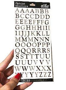 Adesivo Alfabeto Foil