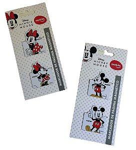 Marcador de Página Magnético Mickey e Minnie
