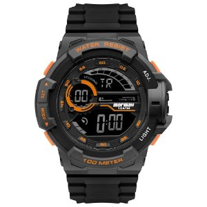 Relógio Mormaii Masculino Acqua Wave Mo3660AE Preto Laranja