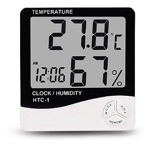Termo Higrômetro Estação Meteorológica Relógio