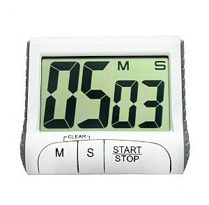 Timer Digital Com Temporizador e Cronômetro Para Cozinha