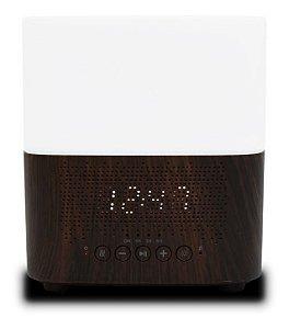 Aromatizador De Ar Com Relógio e Caixa de Som Bluetooth