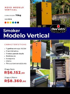 Pit Smoker - Modelo Vertical