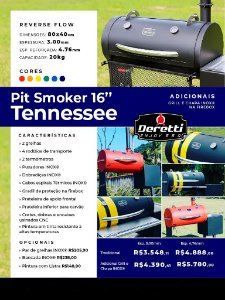 """Pit Smoker 16"""" - Tennessee"""