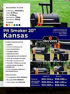 """Pit Smoker 20"""" - Kansas"""