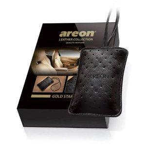Aromatizante para carro em couro - Areon Leather Collection -  Gold Star