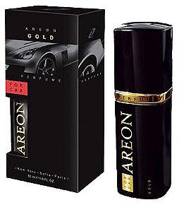 Aromatizante para Carro Areon For Car - Perfume 50ml - Vidro Preto - Gold