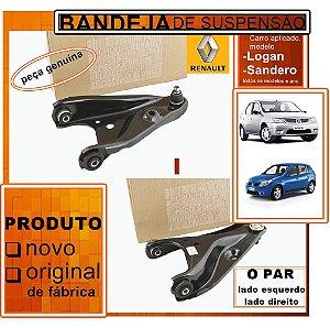 Kit Bandeja de Suspensão Renault Logan e Sandero - Par  8036861 - 8036853