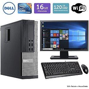 Desktop Usado Dell Optiplex 790Sff I3 16Gb Ssd120 Mon19W