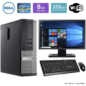 Desktop Usado Dell Optiplex 790Sff I7 8Gb 320Gb Mon17W