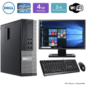 Desktop Usado Dell Optiplex 790Sff I5 4Gb 1Tb Mon19W Brinde