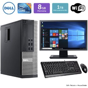Desktop Usado Dell Optiplex 7020SFF i3 8GB 1TB Mon19W Brinde