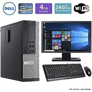 Desktop Usado Dell Optiplex 7020SFF i7 4GB SSD240 Mon19W