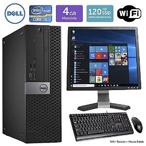 Desktop Usado Dell Optiplex 7050SFF i5 4GB SSD120 Mon17Q