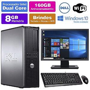 Desktop Usado Dell Optiplex INT Dcore 8GB DDR3 160GB Mon19W