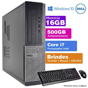 Desktop Usado Dell Optiplex INT i7 2G 16GB 500GB Brinde