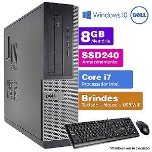 Desktop Usado Dell Optiplex INT i7 2G 8GB SSD240 Brinde