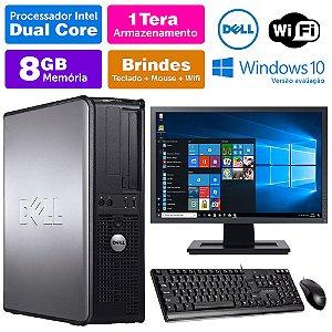 Desktop Usado Dell Optiplex INT Dcore 8GB DDR3 1TB Mon17W
