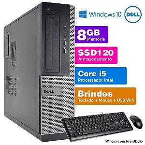 Desktop Usado Dell Optiplex INT i5 2G 8GB SSD120 Brinde