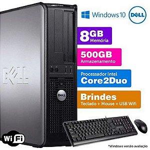 Desktop Usado Dell Optiplex INT C2Duo 8GB DDR3 500gb Brinde + Placa de Vídeo 1gb
