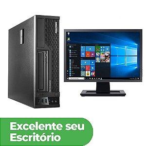 """Desktop Usado Positivo Completo Core i3 4G 4GB DDR3 SSD 120GB + Monitor 19"""" Widescreen"""