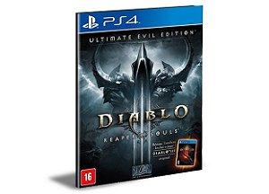 DIABLO 3 REAPER OF SOULS ULTIMATE EVIL EDITION PS4 e PS5 PSN MÍDIA DIGITAL