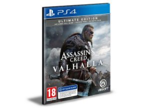 Assassins Creed Valhalla Ultimate  Ps4  - Mídia Digital